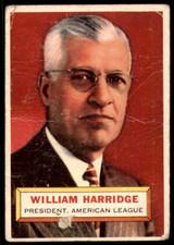 1956 Topps #1 Will Harridge PRES Poor  ID: 220390