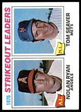 1977 Topps #6 Nolan Ryan/Tom Seaver Strikeout Leaders Ex-Mint  ID: 246053
