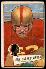 1952 Bowman #112 John Badaczewski Good Washington NFL Football
