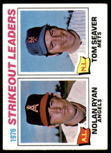 1977 Topps #6 Nolan Ryan/Tom Seaver Strikeout Leaders Excellent+  ID: 246055