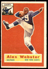 1956 Topps #5 Alex Webster Excellent+ RC Rookie