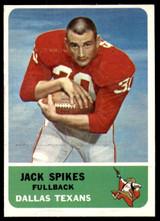 1962 Fleer #23 Jack Spikes Excellent  ID: 244040