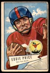 1952 Bowman Large #123 Eddie Price Poor  ID: 222011