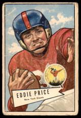 1952 Bowman Large #123 Eddie Price Poor  ID: 222012