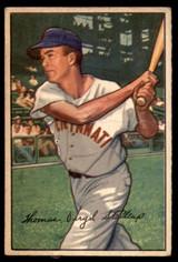 1952 Bowman #6 Virgil Stallcup Very Good  ID: 214336