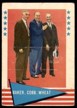 1961 Fleer #1 Frank Baker/Ty Cobb/Zack Wheat Poor Marked  ID: 215222