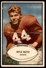 1953 Bowman #25 Kyle Rote Poor