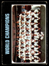 1971 Topps #1 World Champions Orioles G-VG  ID: 226530
