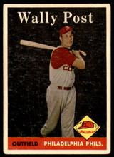 1958 Topps #387 Wally Post VG-EX