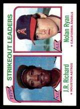 1980 Topps #206 J.R. Richard/Nolan Ryan LL Ex-Mint  ID: 277959