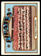 1972 Topps #1 World Champions Pirates Very Good  ID: 258726
