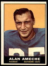 1961 Topps #3 Alan Ameche Excellent+