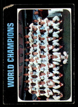 1971 Topps #1 World Champions Orioles Poor