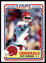 1984 Topps USFL #67 Gary Barbaro NM-Mint  ID: 263127
