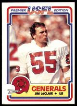 1984 Topps USFL #71 Jim Leclair NM-Mint  ID: 263138