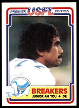 1984 Topps USFL #75 Junior Ah You NM-Mint RC Rookie  ID: 263147