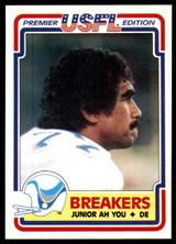 1984 Topps USFL #75 Junior Ah You NM-Mint RC Rookie  ID: 263148