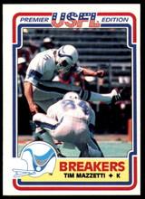 1984 Topps USFL #78 Tim Mazzetti NM-Mint  ID: 263158
