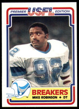 1984 Topps USFL #79 Mike Robinson NM-Mint RC Rookie  ID: 263159