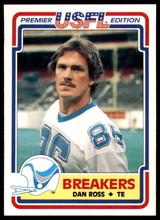 1984 Topps USFL #80 Dan Ross NM-Mint  ID: 263164