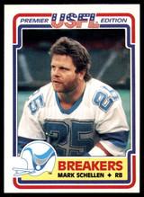 1984 Topps USFL #81 Mark Schellen NM-Mint  ID: 263167