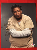 Uzo Abuda I threw my Pie for You 11x14 Photo Signed PSA/DNA Orange is the New Black
