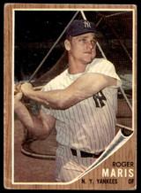 1962 Topps #1 Roger Maris Very Good  ID: 188827