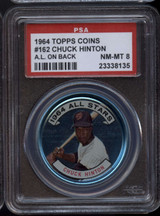 1964 Topps Coins #162 Chuck Hinton AS PSA 8 NM-Mint AL on Back ID: 122325