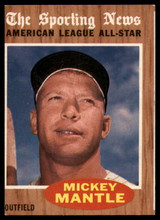 1962 Topps #471 Mickey Mantle AS EX++ Excellent++