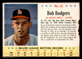 1963 Post Cereal #31 Bob Rodgers Very Good