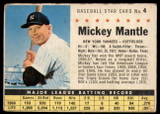 1961 Post Cereal #4 Mickey Mantle VG-EX