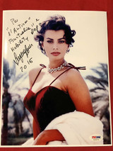 Sophia Loren 8x10 Color Photo Signed Autograph PSA/DNA