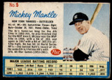 1962 Post Cereal #5 Mickey Mantle G-VG  ID: 150810