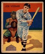 1934 Diamond Stars R327 #8 Joe Vosmik Excellent+