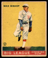 1933 Goudey #61 Max Bishop Excellent+ RC Rookie