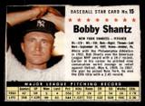 1961 Post Cereal #15 Bobby Shantz Very Good  ID: 280117