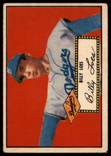 1952 Topps #20 Billy Loes VG Very Good Red Back RC Rookie