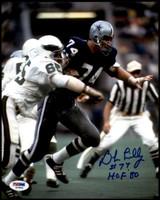 "Bob Lilly Signed Auto 8x10 Photo PSA/DNA COA Dallas Cowboys ""HOF '80"""