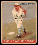 1933 Goudey #6 Jimmie Dykes ERR Very Good RC Rookie ID: 190259