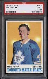 1970-71 Topps #107 Mike Pelyk PSA 9 Mint RC Rookie