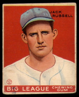 1933 Goudey #167 Jack Russell EX Excellent RC Rookie