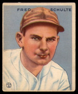 1933 Goudey #190 Fred Schulte EX Excellent RC Rookie