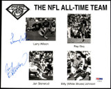 Larry Wilson Jan Stenerud Signed 8x10 Photo PSA/DNA Authenticated 49ers Chiefs Auto