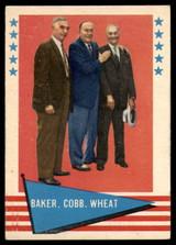 1961 Fleer #1 Frank Baker/Ty Cobb/Zack Wheat EX/NM