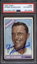 1966 Topps #268 Johnny Blanchard PSA/DNA Signed Auto Braves