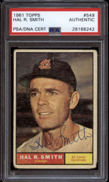 1961 Topps #549 Hal Smith PSA/DNA Signed Auto
