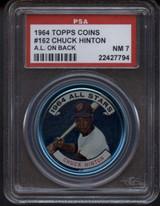 1964 Topps Coins #162 Chuck Hinton AS PSA 7 Near Mint AL on Back ID: 125510