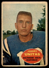 1960 Topps #1 Johnny Unitas VG Very Good