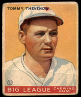 1933 Goudey #36 Tommy Thevenow Good RC Rookie