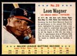 1963 Post Cereal #28 Leon Wagner BA .278 Near Mint AVG .272